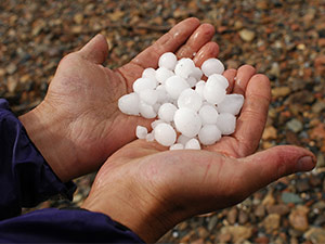what hail can look like example