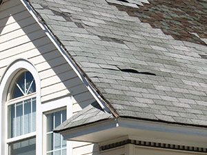what missing shingles on a roofing system looks like example