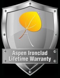 Logo for Aspens Ironclad Lifetime Warranty