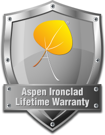 Logo for Aspens Ironclad Lifetime Warranty
