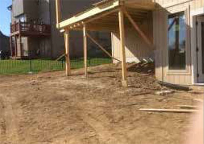 New construction site example with its ground clean and free of debris
