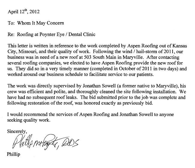 Read Aspen S Nationwide Testimonials Aspen Contracting